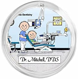 PrintedPerfection.com Personalized Round Christmas Ornament Friendly Folks: Dentist - Male Dental Assistant, Oral Surgeon, General Dentistry, Graduate, Endodontist, Orthodontist, Periodontist