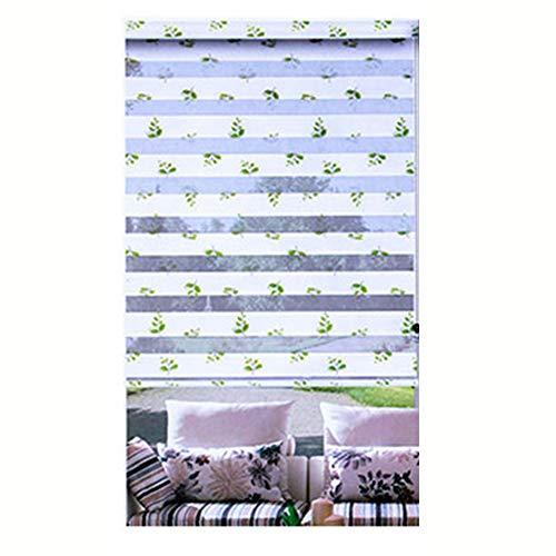 LIQICAI Doppelrollo, Wasserdicht Duo Rollo Für Fenster Und Türen Seitenzugrollo mit Installationszubehör, Anpassbare Größe (Color : White, Size : 50x150cm)