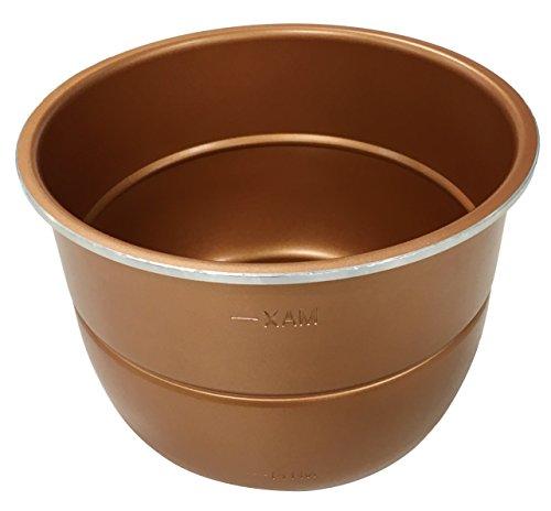 Pressure King Pro 6 Litre Inner Pot, Also Available 5 Litre and 3 Litre Sizes, Aluminium, Copper