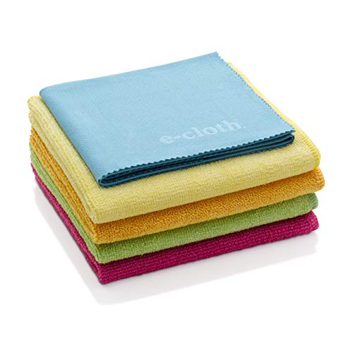 E-Cloth Home Starter Set, Microfiber Cleaning Cloth, Set of 5, Mixed Colors