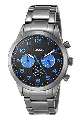 Fossil 43 mm Flynn Pilot BQ2124 Smoke One Size