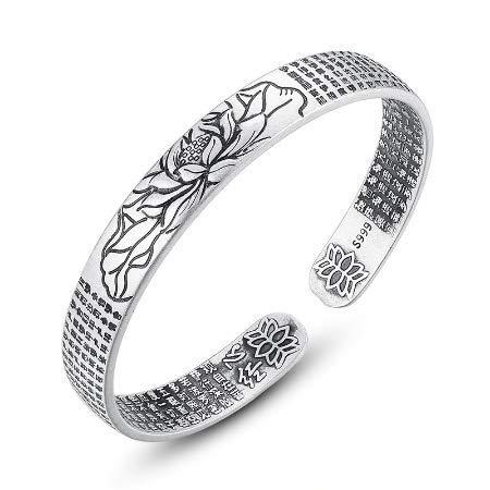 Le bracelet en argent Sûtra du Lotus