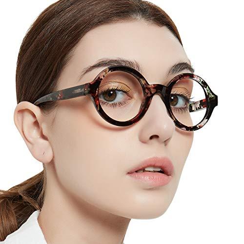MARE AZZURO Round 2.0 Reading Glasses Women, Stylish Readers 0 100 150 200 250 300 350 (Brown 2.00)