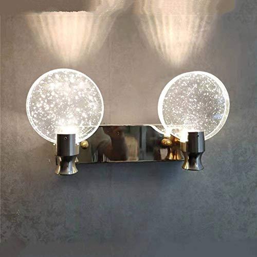 JINKEBIN Lámpara de Pared Sencilla Habitación Sala de Cristal lámpara de Pared de la lámpara Delantera de Espejo de Maquillaje Baño Luz a la Pared de la lámpara Decoración Luces luz del Espejo