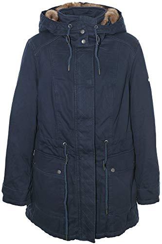 Sheego Outdoorjacke Parka Jacke Mantel Winterjacke Fellkragen Damen Plusgröße, Farbe:Marine (Navy), Damengrößen:42