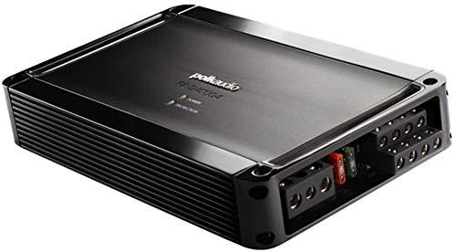 Polk PA D4000.4 Super Efficient Class D Bridgeable 4-Channel Mobile Audio Amplifier, 500W Max Power Handling, 20k Ohms Input Impedance, 20-20KHz Frequency Response, Front and Rear Level Controls