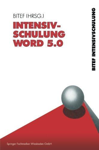 Intensivschulung Word 5.0 (German Edition) by BITEF (1990-01-01)