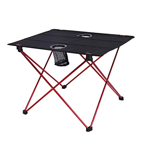 ASWT-Picnic Folding Tables Aluminum Table, Oxford cloth+Aluminum Folding Camping Table with cup slot, for Outdoor Dining Tables for Camping/Banquet/Picnic Party/Garden BBQ