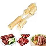 Bulary 14M * 26MM Carne de Salchicha de colágeno Fresco Comestible para Hacer Salchicha Asada Salchicha Seca Salchicha Perrito Caliente