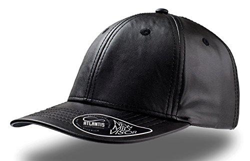 Atlantis Lewis Baseball Cap ECO Leder Hut Hüte Kappen Chapeaux Mütze, schwarz