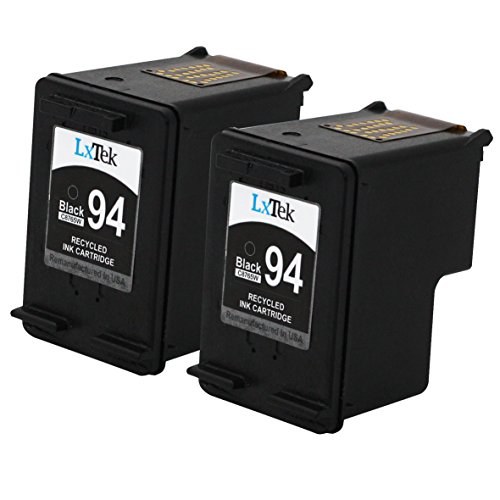 LxTek Remanufactured Ink Cartridge Replacement for HP 94 (2 Black) C8765WN