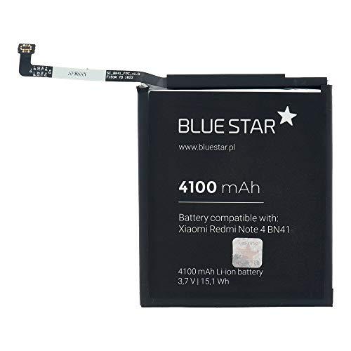 Blue Star Premium - Batería de Li-Ion Litio 4100 mAh de Capacidad Carga Rapida 2.0 Compatible con el Xiaomi Redmi Note 4 (BN41)