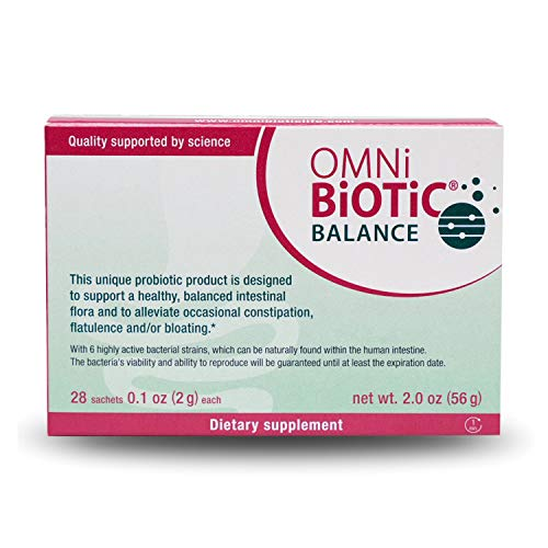 OMNi-BiOTiC Balance Probiotic Immune Support - Bifidobacterium & Lactobacillus - Hypoallergenic - Immune Booster Supplement for Men and Women - Non-GMO (28 Daily Packets)