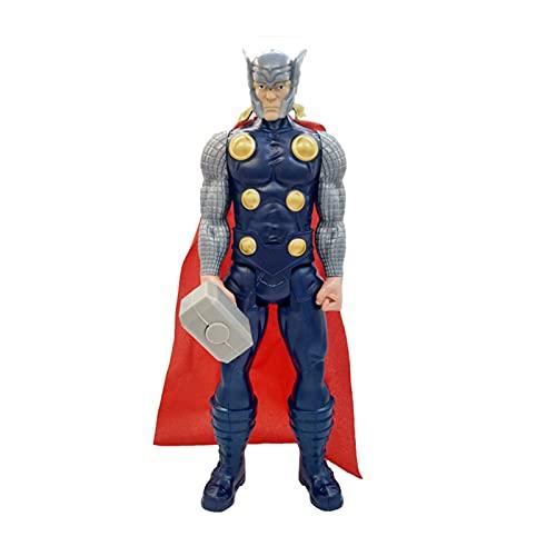 YSVSPRF Action Figure 30 cm Thor Toy Action Figures Supereroe con Quake e Red Cloak Collective Anime Peripheral Model Fans Gift Modello di Bambola (Color : No box22)
