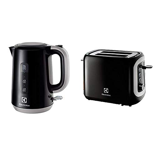 Electrolux EEWA3300 Love Your Day Collection Bollitore & Love Your Day Collection Tostapane, plastica, 2 Scomparti, Nero