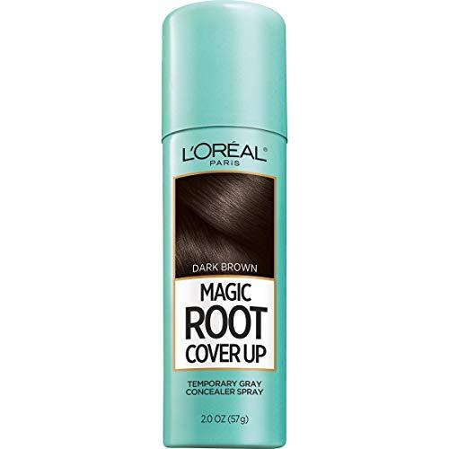L'Oreal Paris Magic Root Cover Up Temporary Gray Concealer Spray, Dark Brown 2 oz (Pack of 6)