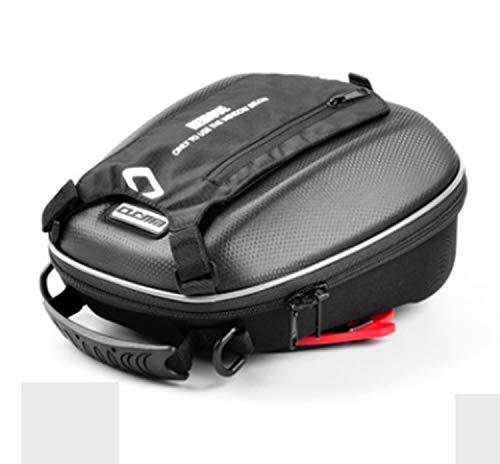 Wwgrysp Bolsa de depósito de Combustible con Hebilla de liberación rápida para Motocicleta, Mochila Impermeable, Oxford Tela GPS Travel Riding Bag Negro Compatible Harley Yamaha
