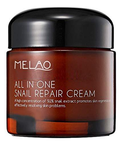 Schneckenschleim Creme MELAO - Snail creme - Reines Konzentrat mit 92% Snail Mucus - Großraumbehälter 75 ML Intensive Regenerationscreme - Ideal gegen Falten, Aknenarben, braune Flecken
