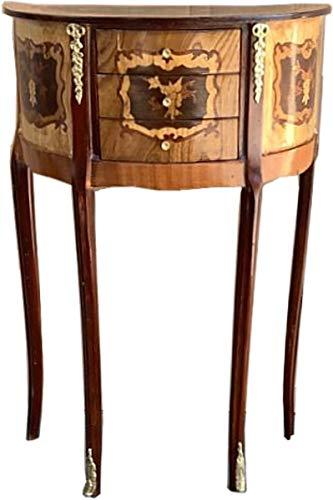Casa Padrino Barock Kommode mit 3 Schubladen Braun Intarsien - Antik Stil - Nachttisch Konsole