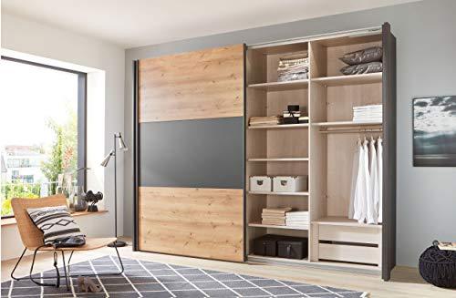 WIEMANN Inneneinteilung für Kleiderschrank, Zubehör Set für Schlafzimmerschrank, Einlegeböden, Schubkasteneinsatz, organizer, Treeline