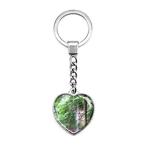 Whitley City Yahoo Falls Kentucky Schlüsselanhänger Kreativ Doppelseitiger Herzförmiger Kristall Schlüsselanhänger Reise Souvenir Metall