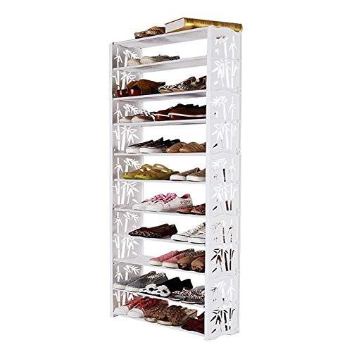 Zapatero 11 niveles de zapatos Estantes de almacenamiento apilables extensibles Estantes de la torre de zapatos para pasillo Cuarto de baño Sala de estar y pasillo Zapatos Estante de Almacenamiento