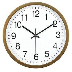 Large Wall Clock Silent & Non-Ticking - Modern Quartz Design - Decorative 14-Inch Clock