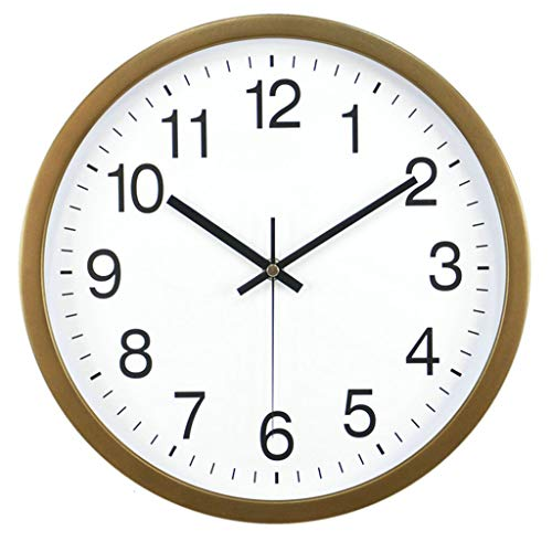 Large Wall Clock Silent & Non-Ticking - Modern Quartz Design - Decorative 14-Inch Clock