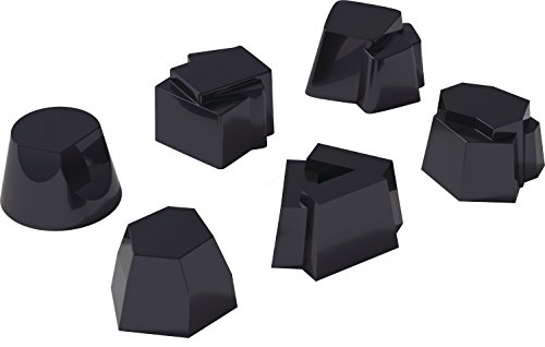 Alessi Moulds B Timbale Molds Set, Black