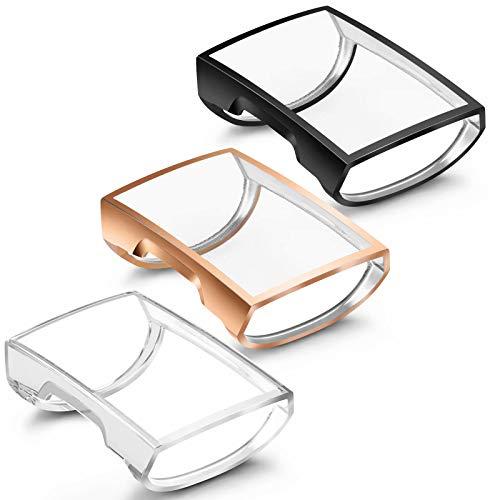 Vancle 3 Pack Schutzhülle Kompatibel mit Fitbit Charge 3 / Charge 4 Schutzfolie Hülle, TPU Ultradünner Stoßfestes Vollschutz Gehäuse Schutz Hülle für Charge 3/Charge 4