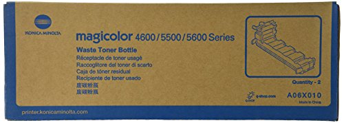 Price comparison product image Konica Minolta A06X010 Toner Waste Bottles 2-Pack For magicolor 4650 Series Printers