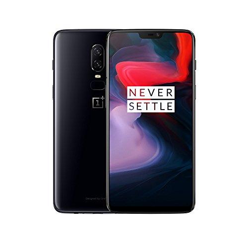 OnePlus 6 Smartphone 6GB RAM, 64 GB Memoria (non espandibile), OxygenOS basato su Android Oreo, Dual SIM, Nero (Mirror Black)