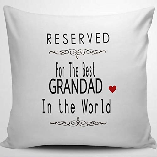BYRON HOYLE 4 Reserved For The Best GRANDAD in The World. Novelty Throw Pillow Cover Linen Square Pillow case Cushion Cover Pillowcase with Zipper Home Decor 18x18 inch