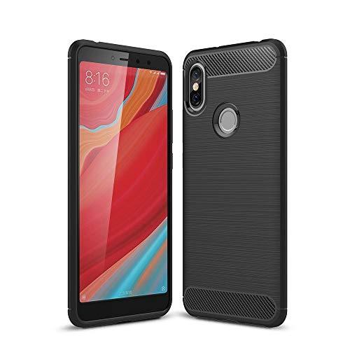 König Design Handy-Hülle kompatibel mit Xiaomi Redmi S2 / Y2 Silikon Hülle Hülle Sturzsichere Back-Cover Handyhülle - Carbon - Schwarz