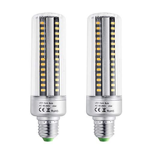 EKSAVE E26 / E27 96 LED 5736 SMD 25W LED-Maisbirne, Glühlampenwechsel, Energiesparende Glühlampen für Zuhause Lampe mit Abdeckung 2000 Lumen, AC220V, ohne Dimmbar (2 Stück, warmweiß)