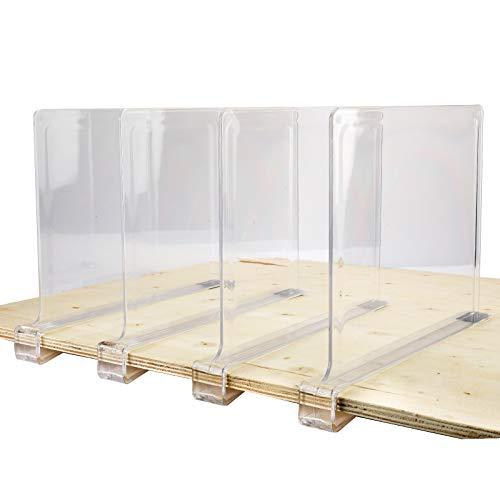 Homtone Set mit 4 Acrylregal-Trennwänden, ideal für Schränke, Küche, Schlafzimmer, nützliches Regal zum Organisieren von Kleidung, Büchern, Handtüchern.