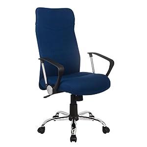 SixBros. Sillón de Oficina Silla de Oficina Silla giratoria Azul – H-935-6/2467