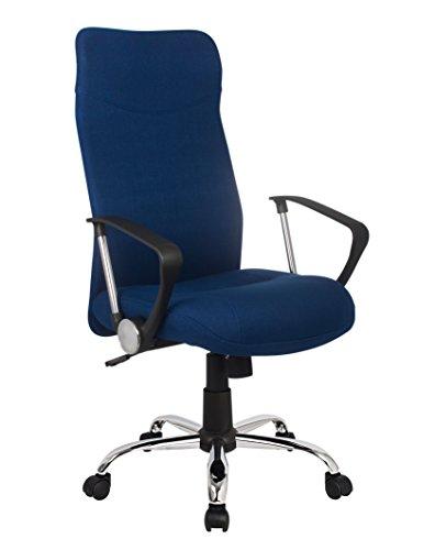 SixBros. Sillón de Oficina Silla de Oficina Silla giratoria Azul - H-935-6/2467