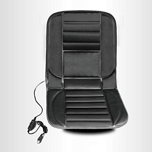 YSH 12 V Noir Tissu Plat Chauffant Coussin De Siège De Voiture Chaise Détente Détente Chauffage Tapis De Siège Accessoires,Black