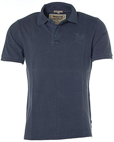 Signum meets Arqueonautas Herren Pikee Poloshirt Polo T-Shirt Navy L