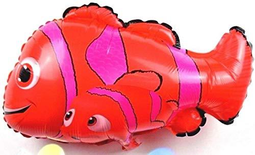 SauParty 3 Unidad Helio Globo de Plástico Nuevo 3D Peces Encontrar Nemo Papa Familia Pesca Fiesta