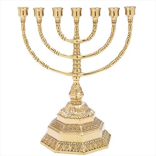 Candelabros Dorados Velas Grandes candelabros dorados  Marca NKlaus