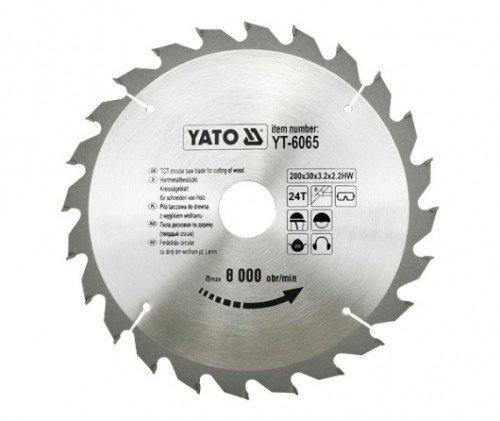 Yato yt-6065 – TCT lame de bois 200 x 24 x 30 mm