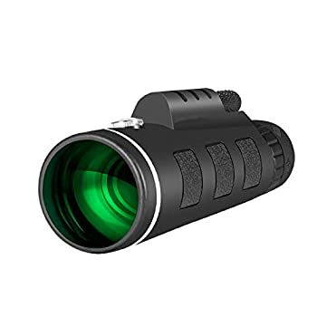 Day/Night Vision 40x60 Zoom Monocular with Bak4 Prism Dual Focus High Power Telescope  Black