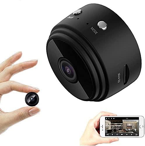 A9 Mini Wireless WiFi Spy Camera 1080p HD Night Vision Video, Cámaras encubiertas inalámbricas, Night Vision Spy Camera, Cámaras Seguridad hogar Wireless WiFi Remote Viewing (Negro)