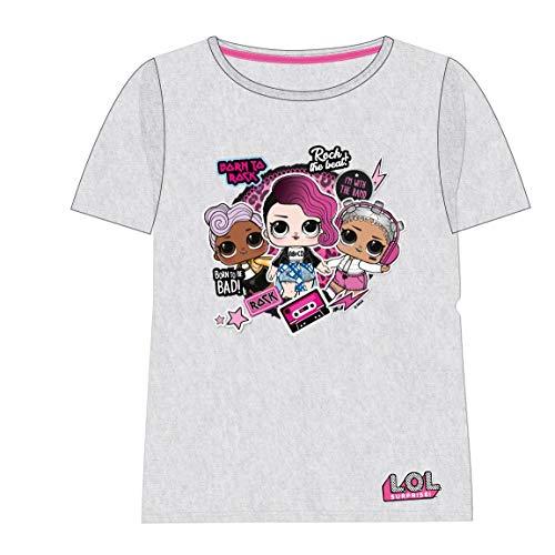 Cerdá Camiseta Manga Corta LOL, Blanco (Blanco C01), 6 años para Niñas