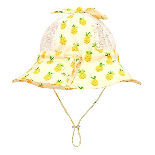 KFGF Cappello da sole estivo per bambini di età inferiore ai 6 anni, colore giallo, 50 cm