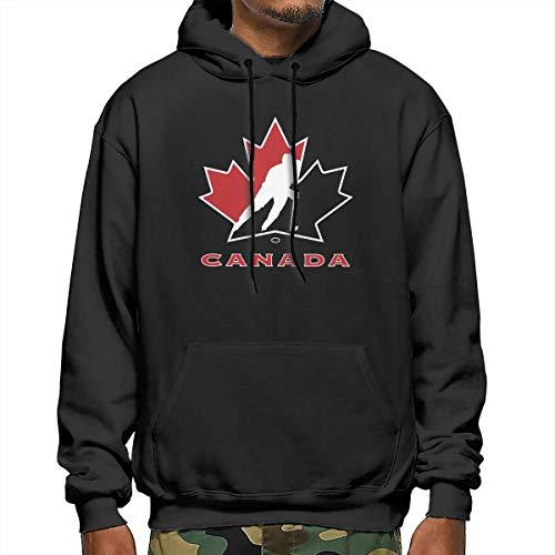 Canada National Ice Hockey Team Logo Lose Herren Hoodies Pullover Kapuzenpullover Sweatshirt Gr. XXL, Schwarz