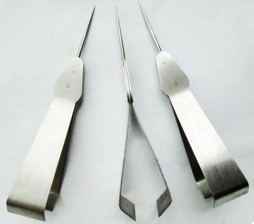 Multi-fonctionnel Tissu Picker/Pince à épiler et Poinçon In One 12cm, 5 pouces