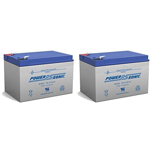 Power Sonic 12V 12Ah F2 Battery REPL. 6DZM-10, 6-DZM-10 Each - 2 Pack